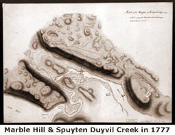 Marble Hill and the Spuyten Duyvil Creek in 1777