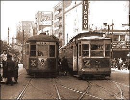 Trolleys at 181st Street and Broadway