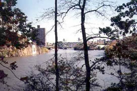 Harlem River viewed from the Inwood Hill Park forest