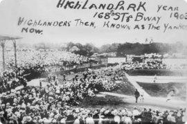New York Highlanders (Yankees) playing ball in Highland Park, 1903