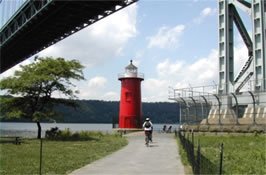 Path leading to the Little Red Lighthouse
